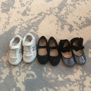 3 pair toddler girl shoes